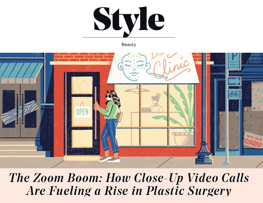 Article: THE HOLLYWOOD REPORTER – The Zoom Boom: How Close-Up Video Calls Are Fueling a Rise in Plastic Surgery