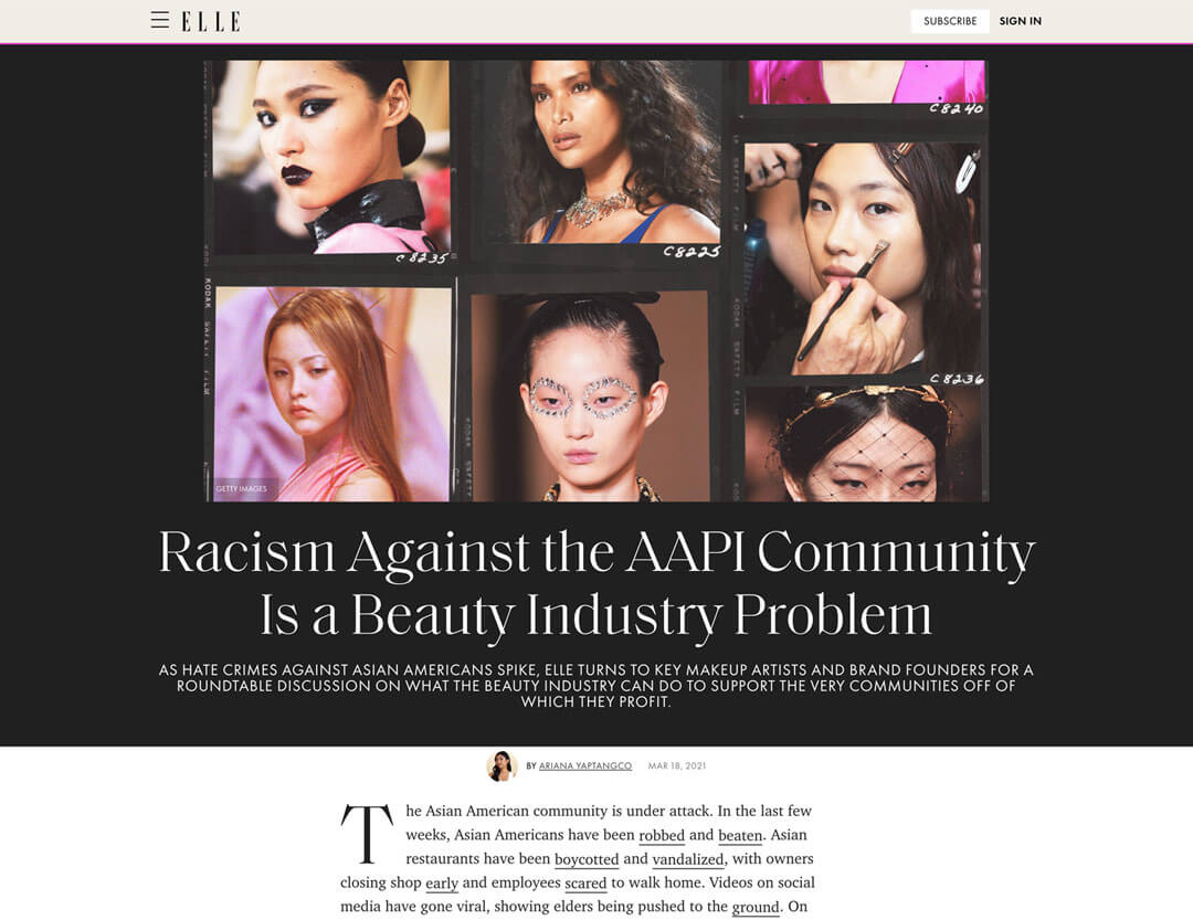 Article: Racism Against the AAPI Community Is a Beauty Industry Problem